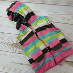 Carters Baby Girl 6 months Pink multi color vest